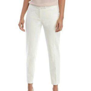 Anne Klein 14 White Extended Tab Pants NWT AC69